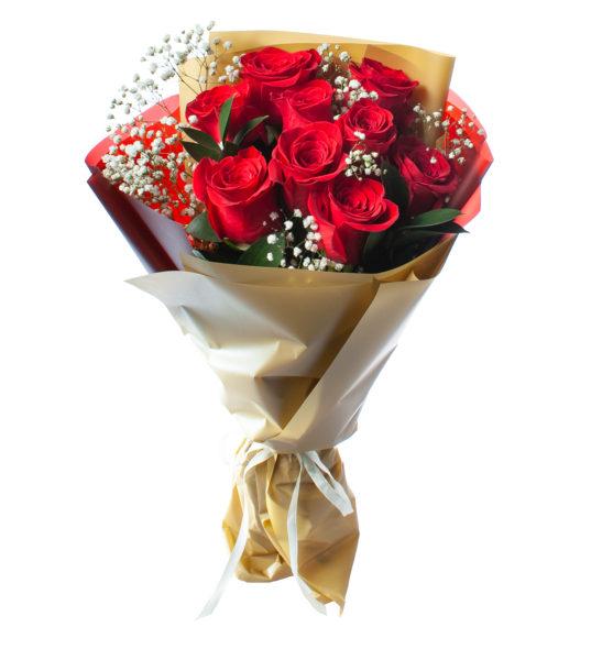 Букет из 9 красных роз №5