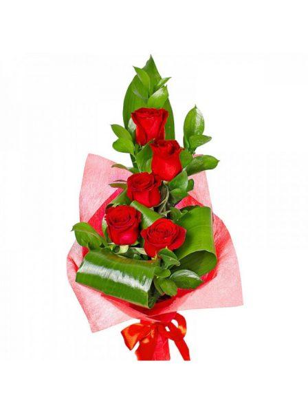 Вертикальный букет из роз №8