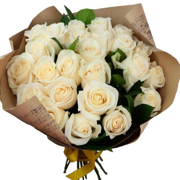 Букет из белых роз №3