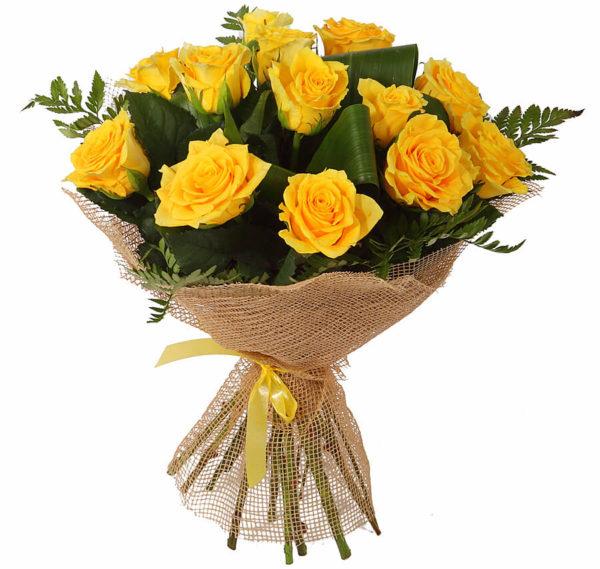 Букет из жёлтых роз.