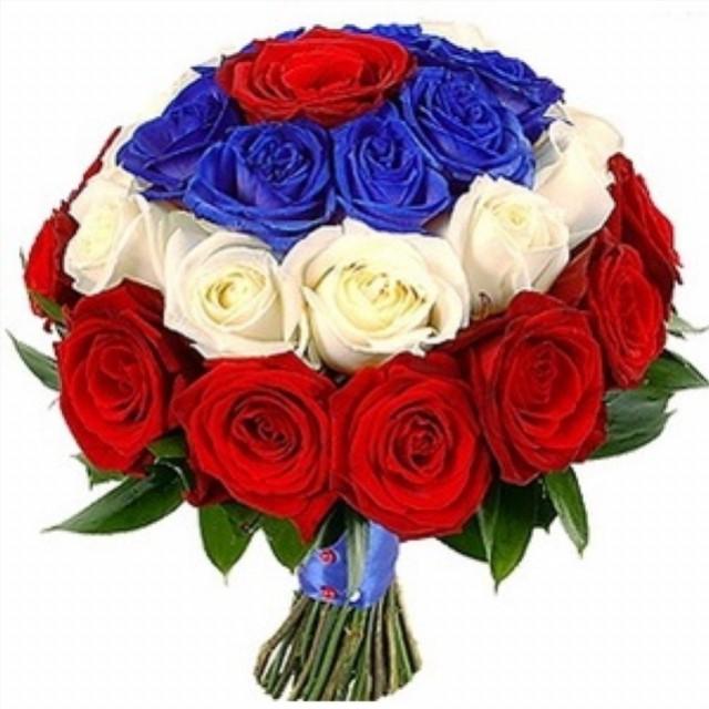 Флаг россии цветок