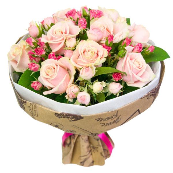 Букет с розами.