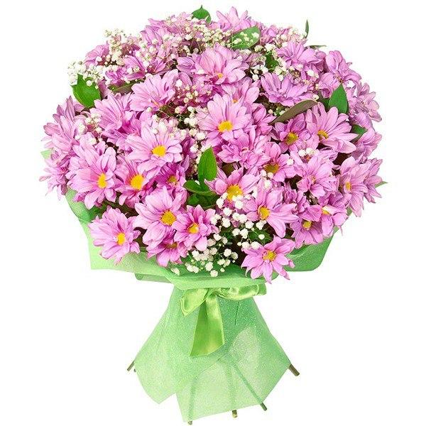 Букет с хризантемами.