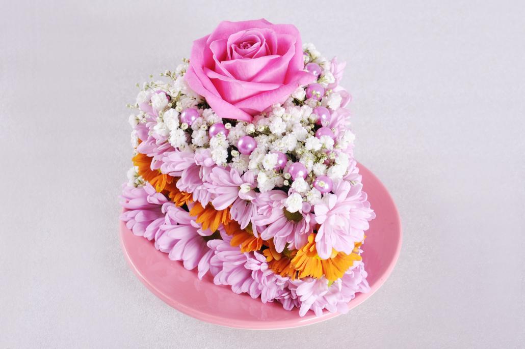 Тортики из цветов фото