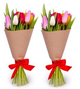 Тюльпаны в крафт бумаге.